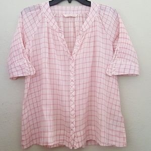 Joe's Pink Button-down Top